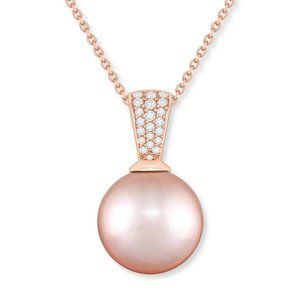 Na Hoku Pink Freshwater Pearl Pendant Necklace